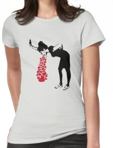 Banksy Love Sick Womens Fitted T-Shirt