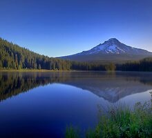 Dawn On Trillium Lake by John Absher