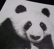 Panda bear in #2 pencil by perfectpencil