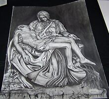 Michaelangelos PIETA in #2 pencil by perfectpencil