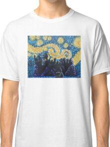 Dr Who Hogwarts Starry Night Classic T-Shirt
