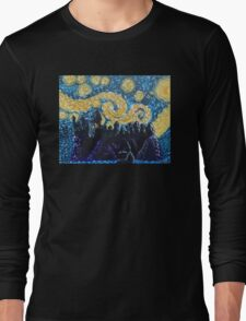 Dr Who Hogwarts Starry Night Long Sleeve T-Shirt
