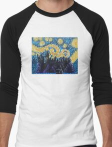 Dr Who Hogwarts Starry Night Men's Baseball ¾ T-Shirt