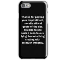 Thanks for Posting iPhone Case/Skin