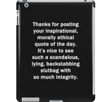 Thanks for Posting iPad Case/Skin