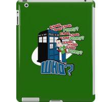 Knock Knock Knock Who iPad Case/Skin