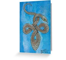 Celtic Yellow Faced whip Snake Greeting Card