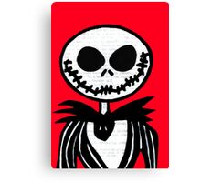 Jack on Red  Canvas Print