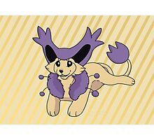 Cutie Delcatty Pokemon  Photographic Print