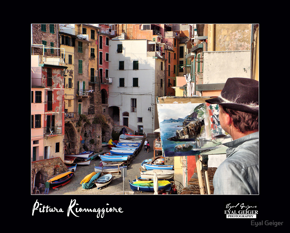 Pittura Riomaggiore by Eyal Geiger