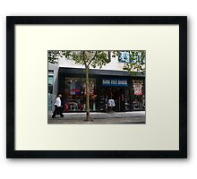 Bare Feet Shoes Sale Framed Print