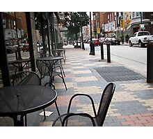 City sidewalk Photographic Print