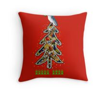 Aussi christmas cockatoo (card) Stock up , get ready Christmas ! Throw Pillow