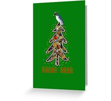 Aussi  X-mas cockatoo (green text) Stock up , get ready for Christmas ! Greeting Card