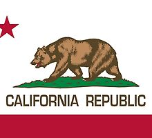 California Republic state flag - Authentic Version by Bruiserstang