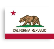 California Republic state flag - Authentic Version Canvas Print