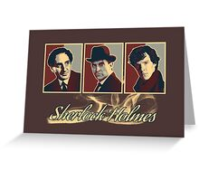 Sherlock Trilogy x3 - Rustic (Card) Greeting Card