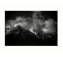 Himalayan Peaks with Clouds Art Print