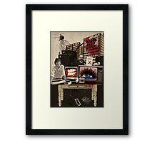 curb your consumerism Framed Print