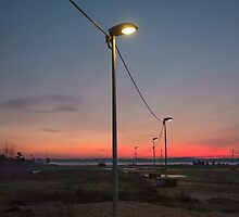 Lights on a wire by Jonas Kroyer Photography