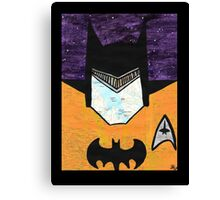 Batman as Geordi La Forge Canvas Print