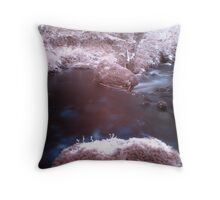 Rocks in the stream Throw Pillow
