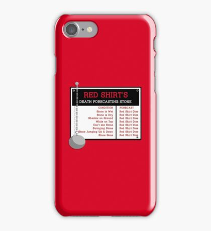 Red Shirt's Death Forecasting Stone iPhone Case/Skin
