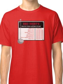Red Shirt's Death Forecasting Stone Classic T-Shirt