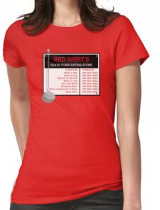 Red Shirt's Death Forecasting Stone Womens Fitted T-Shirt