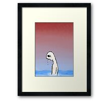 Keep Your Head Above The Rising Water Level Framed Print