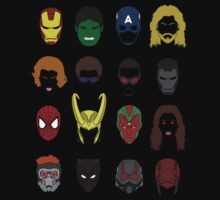 Simple Marvel Heroes by kingsrock
