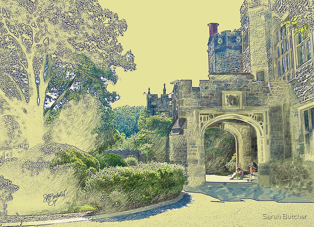 Castle View (Walking up the Hill) by Sarah Butcher