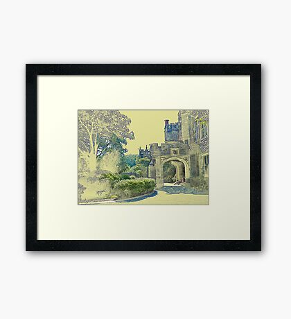 Castle View (Walking up the Hill) Framed Print