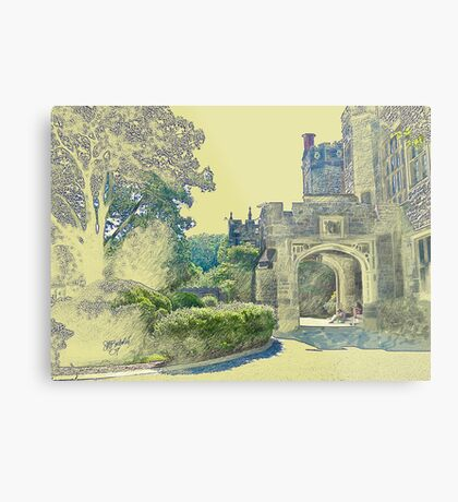 Castle View (Walking up the Hill) Metal Print