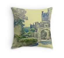 Castle View (Walking up the Hill) Throw Pillow