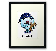 Sleepy Ball Framed Print