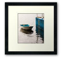 Blue Dinghy Framed Print