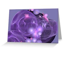 Purples, shapes and patterns Greeting Card