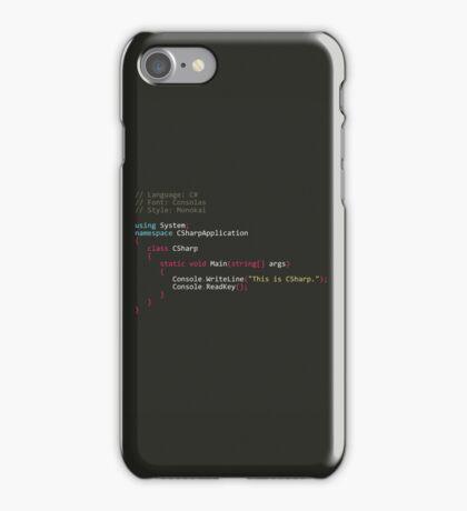 CSharp (C#) and Monokai iPhone Case/Skin