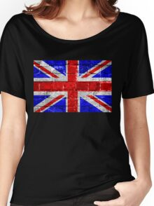 Union Jack Flag Brick Wall Women's Relaxed Fit T-Shirt