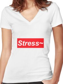 Stress~ Women's Fitted V-Neck T-Shirt