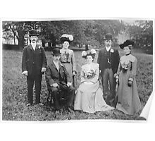 A Country Wedding Party 1903 - Sherburn,North Yorkshire. Poster