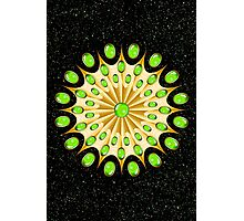 Mandala Gold and Emeralds Photographic Print