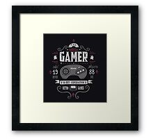 Mega gamer Framed Print