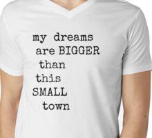Small Town Dreams  Mens V-Neck T-Shirt