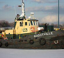 Boat on Dock in Winter by sohvia