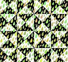 Rainy Day Pattern. Quilted version. by HelgaScand