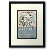 Fallout Super-Duper Mart Framed Print