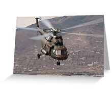 Military helicopter Greeting Card
