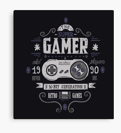 Super gamer Canvas Print
